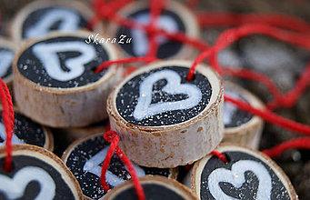 Dekorácie - Chalk hearts mini - 8838146_