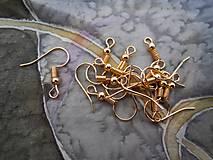 - Háčiky na náušnice  (Zlaté) - 8839311_
