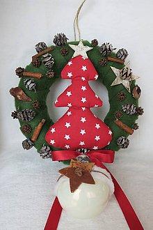 Dekorácie - vianocny veniec - 8835458_