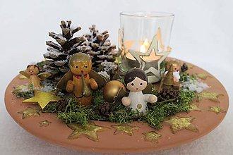 Svietidlá a sviečky - vianocny svietnik - 8835786_