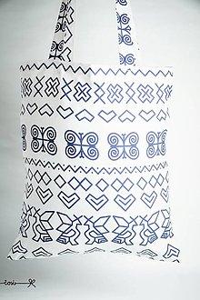 Nákupné tašky - Niečo ako EKOtaška - čičmianska biela - 8834551_