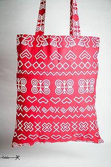 Nákupné tašky - Niečo ako EKOtaška - čičmianska červená - 8834561_
