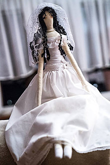 Darčeky pre svadobčanov - Tilda - nevesta - 8838741_