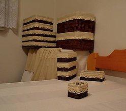Košíky - Košíky a záclonky ZDUN / súprava - 8838478_