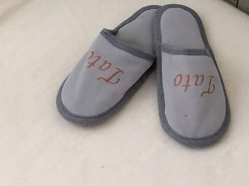 6c7ec37f60f31 Domáce papuče s nadpísom tata / katka19843 - SAShE.sk - Handmade Obuv
