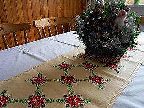 Úžitkový textil - Vianočný behúň - 8841315_