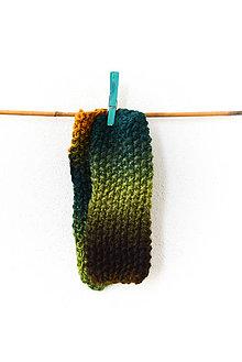 Rukavice - Návleky... vo farbách lesa (1) - 8843900_