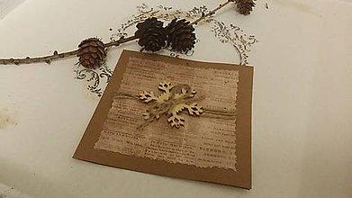 Papiernictvo - Vianočná pohľadnica Vločka - 8840770_