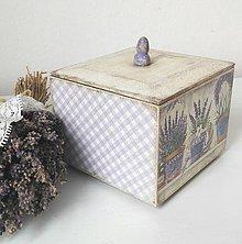 Krabičky - Krabička levanduľová - 8842060_
