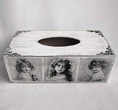 Krabičky - Krabica na vreckovky-dievčatká - 8845949_