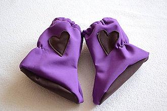 Topánočky - softshellové topánočky fialovo-hnedé - 8843219_