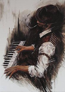 Obrazy - Obraz - Pianista - 8844177_