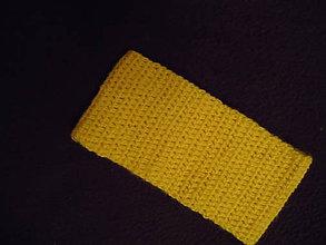 Ozdoby do vlasov - Čelenka horčicová 10cm - 8844322_