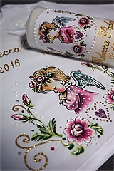 - krstový set s ružičkami - ružový - 8844602_