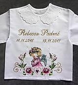 Detské oblečenie - košieľka na krst - 8844652_