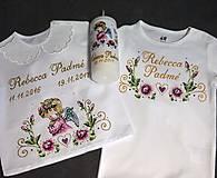 Detské oblečenie - košieľka na krst - 8844667_
