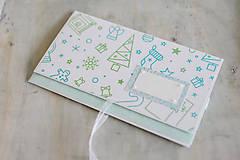 Papiernictvo - Scrapbook vianočná obálka na peniaze - 8845170_