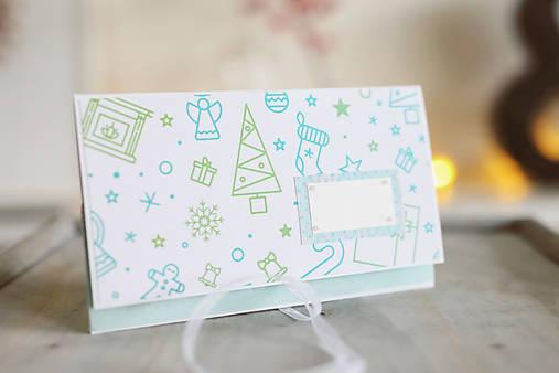 Scrapbook vianočná obálka na peniaze