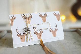 Papiernictvo - Scrapbook vianočná obálka na peniaze - 8845226_