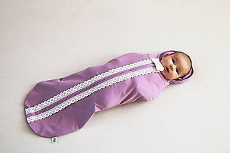 Textil - Moderná perinka Mimi Vintage fialová - 8840998_