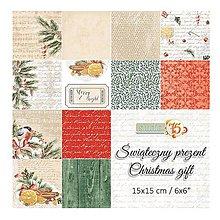Papier - 15,2x15,2cm papierová sada 24ks Christmas gift - 8841527_