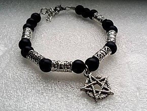 Náramky - Náramok Pentagram - 8843262_