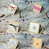 Darčekové poukážky - mix 5ks pohľadníc - 8842974_