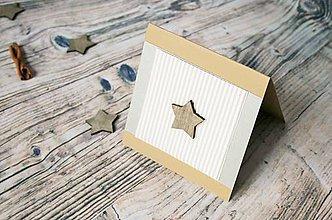 Darčekové poukážky - vianočný pozdrav (hviezda) - 8842821_