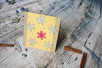 Darčekové poukážky - vianočný pozdrav (vločky) - 8842829_