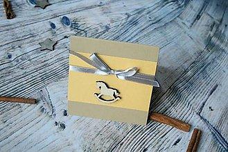 Darčekové poukážky - vianočný pozdrav (koník vraný) - 8842830_