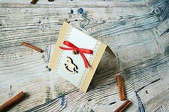 Darčekové poukážky - vianočný pozdrav (koník vraný) - 8842840_