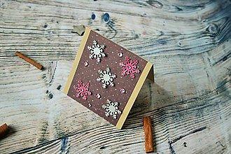 Darčekové poukážky - vianočný pozdrav (zimné vločky) - 8842842_