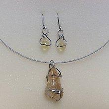Sady šperkov - oceľová sada s citrínom - 8843029_