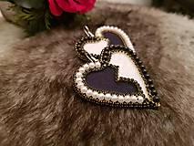 Náušnice - Srdcia ako od Diora - 8841133_