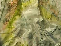 - Jinan / hedvábný šátek 55x55cm - 8844169_
