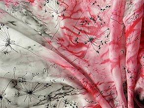 Šatky - Pampelišky / hedvábný šátek 75 x 75 cm/ - 8844906_