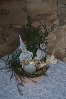 Dekorácie - vianočný aranžmán - 8840809_