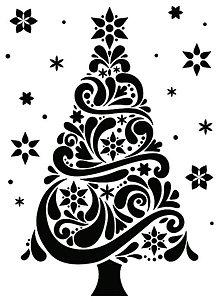 Pomôcky/Nástroje - Embosovacia kapsa Vianočný stromček - 8844155_