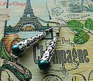 - vintage náušničky tyrkysová - 8844159_