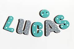 LUCAS drevené písmenká pre chlapca