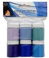 Farby-laky - Sada mat. akrylových farieb-modré - 8845717_