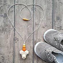 """Náhrdelníky - Silikónový náhrdelník k šatke """"Baie Element Sunburst"""" - 8846252_"""