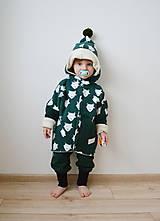 Detské oblečenie - Oversize kabátik Líšky - zelený - 8841926_