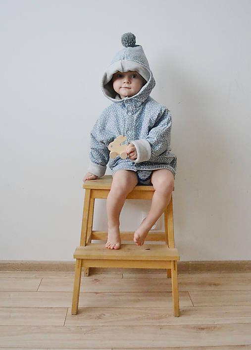 Detské oblečenie - Oversize kabátik šedý  - 8843954_