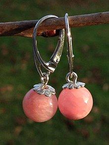 Náušnice - Ružový andský opál - náušnice v striebre - 8845070_