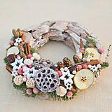 - Prírodný drevený vianočný veniec - 8840331_