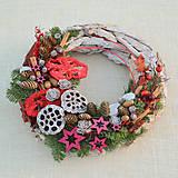 - Prírodný drevený vianočný veniec - 8840364_