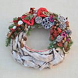 - Prírodný drevený vianočný veniec - 8840378_