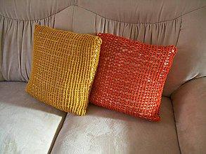 Úžitkový textil - Obliečka oranžová - 8842956_