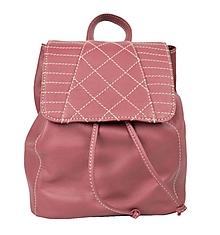Batohy - Dámsky módny kožený ruksak z prírodnej kože v bordovej farbe - 8842388_